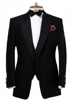 CHESTER BARRIE Savile Row BLACK LABEL Dinner Tuxedo Suit Jacket UK48R EU58R BNWT